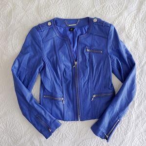 NWOT White House Black Market Leather Moto Jacket